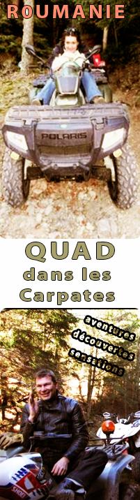 Randonn�e en Quad dans les montagnes (Carpates) en Roumanie